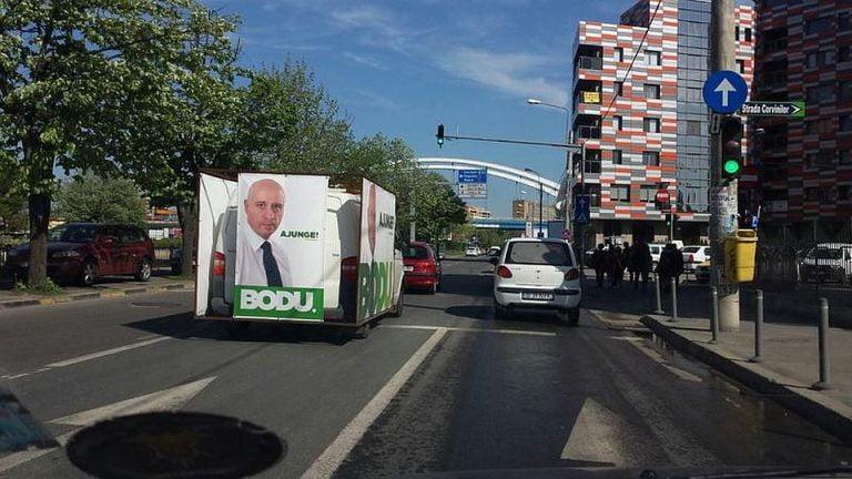 Bodu isi face campanie in Sectorul 6 cu ajutorul controversatului Ilie Potecaru, cel care a ridicat masinile in sector!