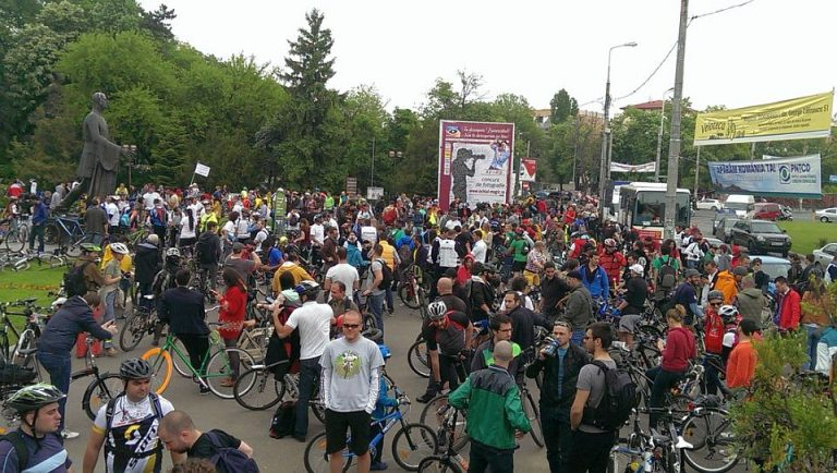 Mars de protest al biciclistilor, sambata in Bucuresti, impotriva primăriei Capitalei
