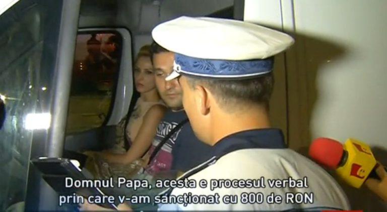 Prins baut la volan, un sofer a fost amendat de 4 ori! Acesta a sunat la 112 sa reclame ca POLITISTUL E BEAT!
