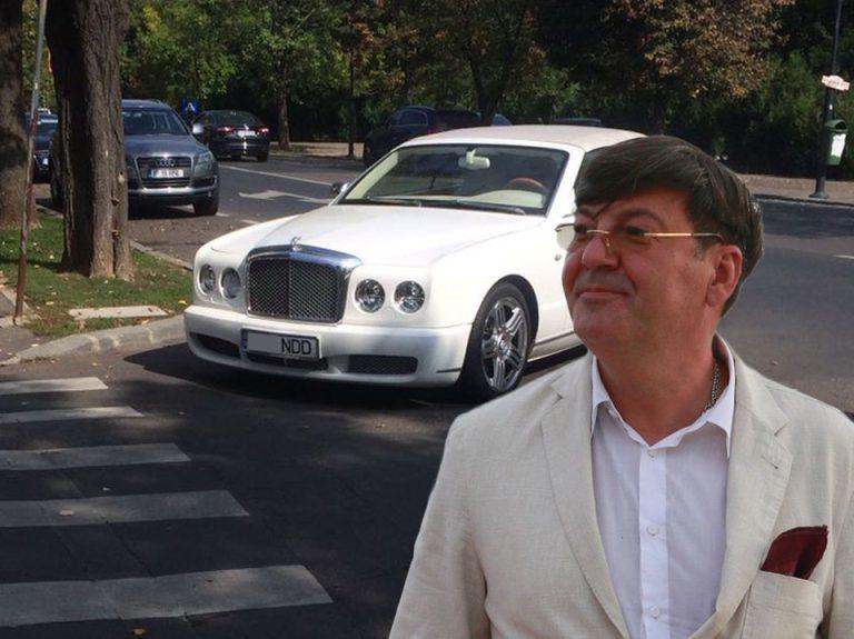 FOTO – Cum isi parcheaza Bentley-ul de 200.000 de euro, in Bucuresti, un MILIARDAR!