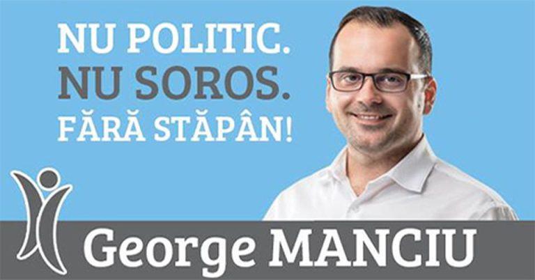 Din primaria Sectorului 3 in Parlament: Tehnocratul independent George Manciu si-a lansat candidatura!