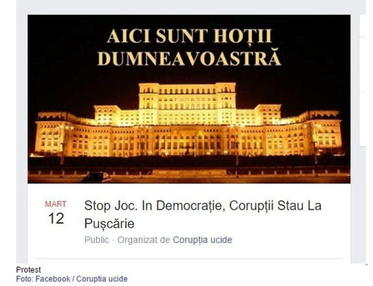 """""""Aici sunt HOTII dumneavoastra!"""". Protest MASIV anuntat duminica, in fata Parlamentului, impotriva gratierii CORUPTILOR !"""