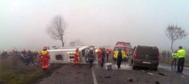 Accident foarte grav pe drumul intre Bucuresti si Urziceni: Cinci masini implicate si doi morti!
