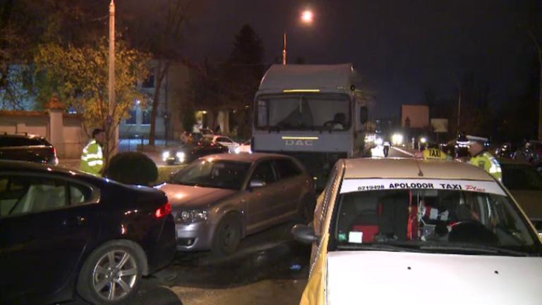 Un jandarm baut a provocat accidentul in lant, de aseara, in care au fost implicate 7 masini