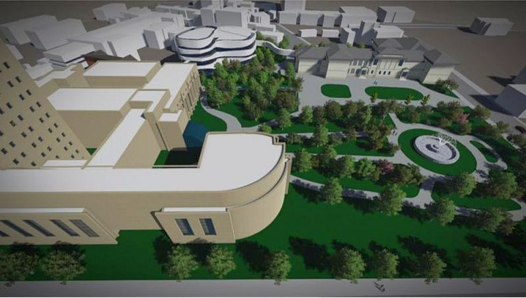 Academia Romana vrea sa ridice o cladire noua pe spatiul verde din fata sediului de pe Calea Victoriei