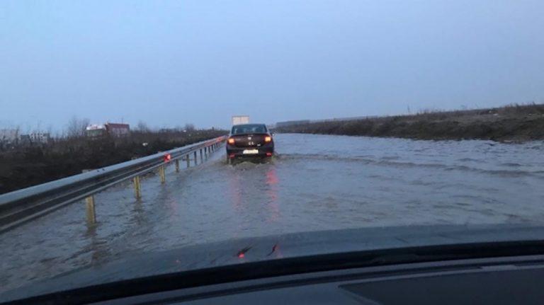 Inundatie pe Centura Capitalei: Autoritatile dau vina pe Dumnezeu!