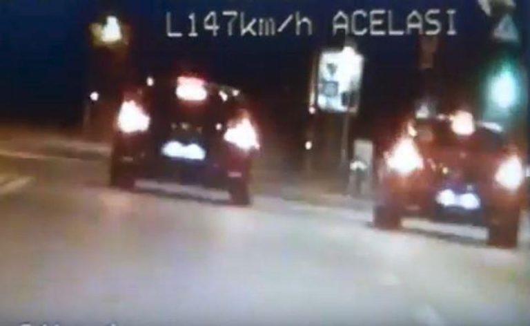 VIDEO-Curse ilegale de masini pe soseaua Dudesti-Pantelimon. Politia a prins doi tineri cu 150 km/h