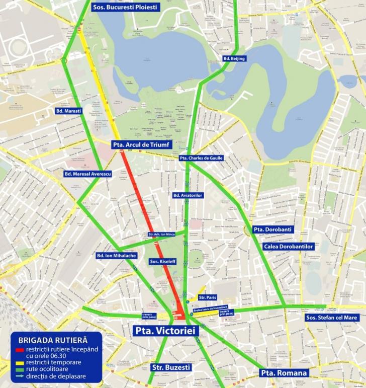 Harta Blocajelor Rutiere In Traficul De Miercuri Al Bucurestiului