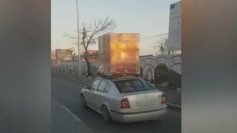 """VIDEO VIRAL-Transport periculos in Bucuresti: """"Bă, ești nebun la cap?! Ca-n India!"""""""