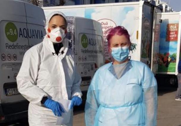 """Rusine!"". Andreea Marin spune ca e solidara cu medicii, dar se pozeaza cu dotari mult mai bune decat exista in spitale"