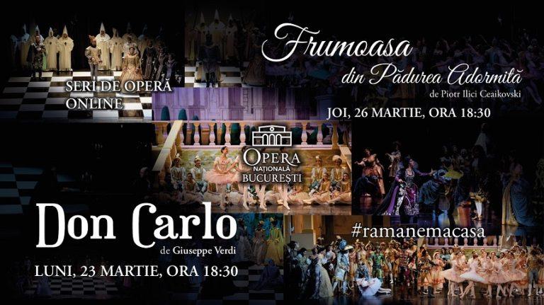 Opera Nationala Bucuresti difuzeaza online cate doua spectacole pe saptamana
